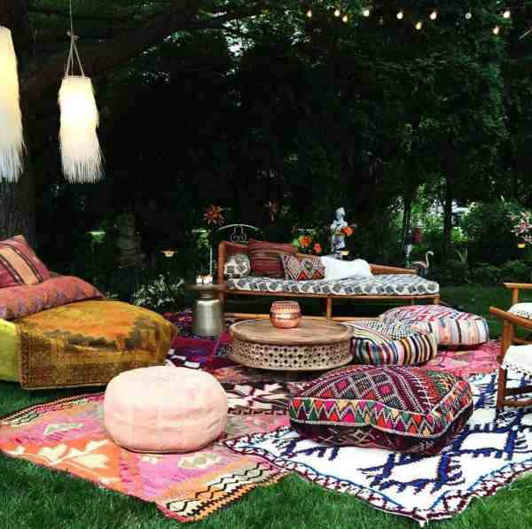 absolutely dreamy bohemian garden
