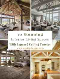 30 Stunning interior living spaces with exposed ceiling ...