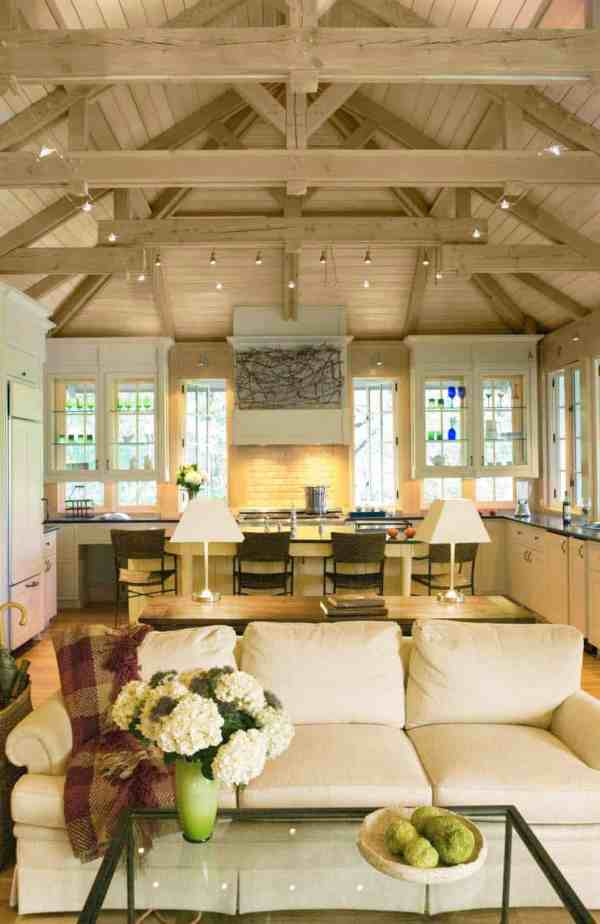 Stunning Interior Living Spaces With Exposed Ceiling
