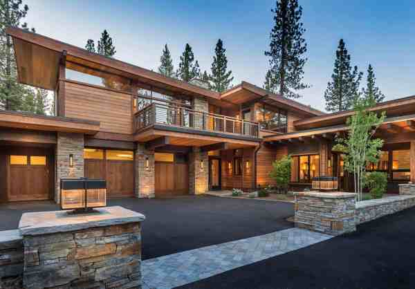 Mountain Modern Home In Martis Camp With Indoor-outdoor Living