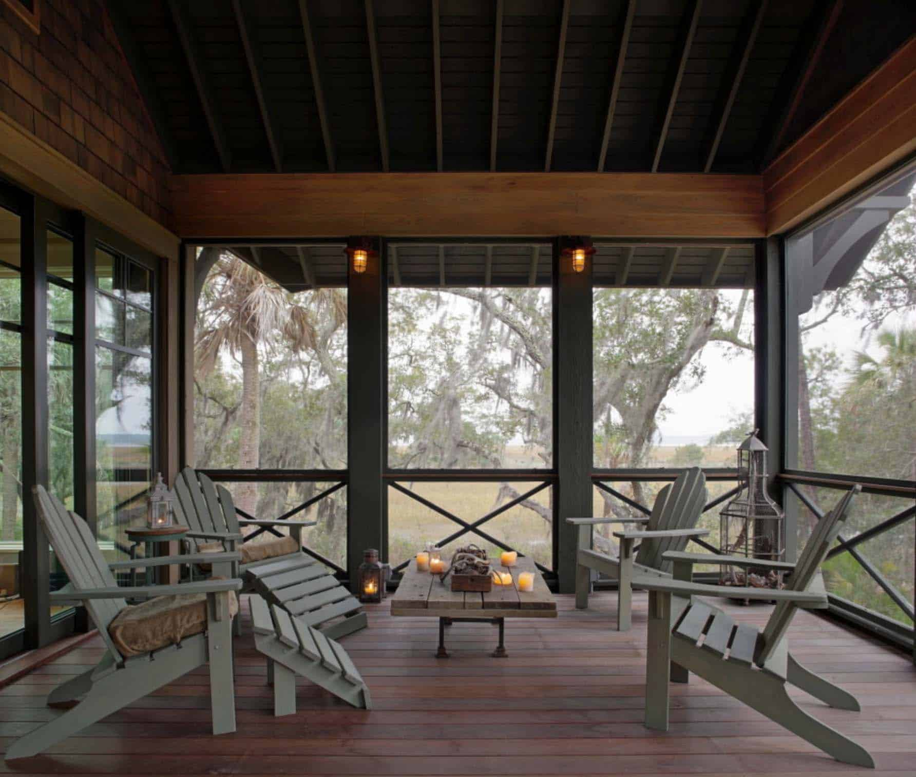 screen porch lounge chairs repair patio straps 38 amazingly cozy and relaxing screened design ideas