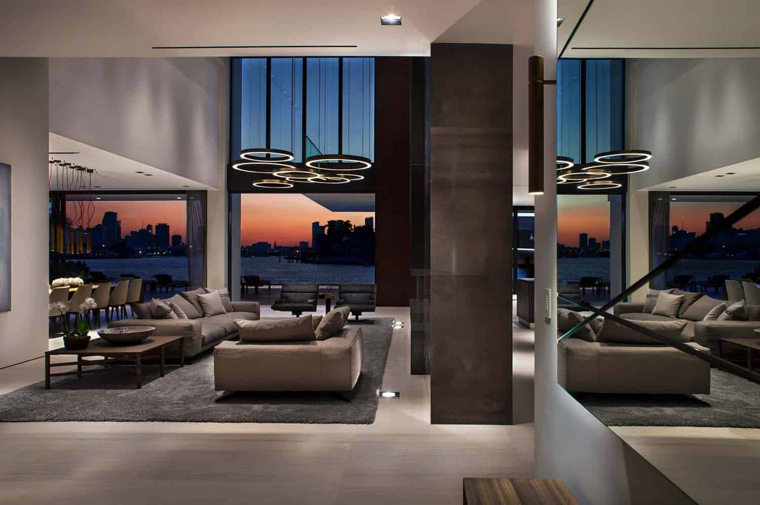 sofa cleaning miami beach table with nesting benches opulent oceanfront home soaks in views of the skyline