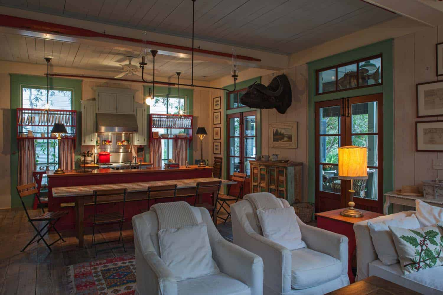 Charming fish camp style cottage invites relaxation in