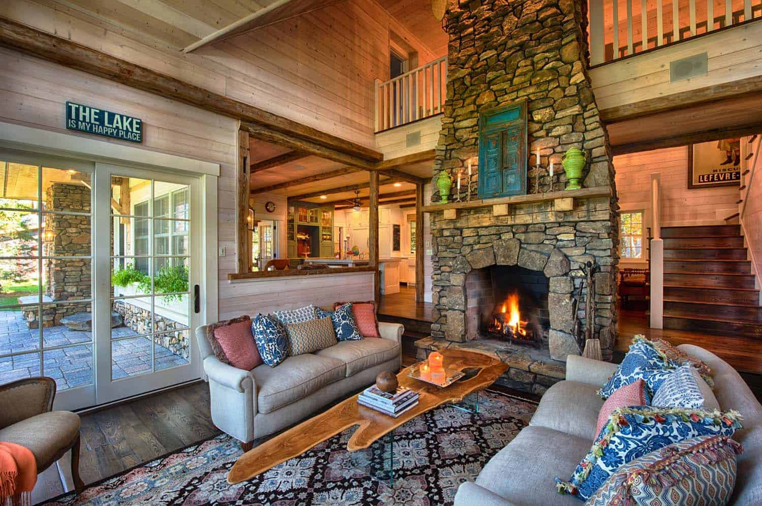 lake house living room photos showcase interior designs a warm and inviting beach style in minnesota