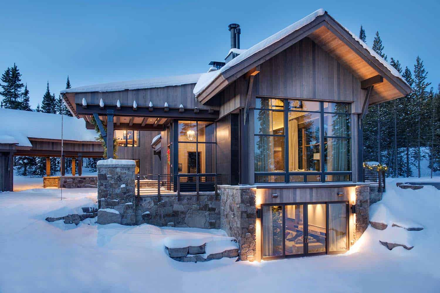 Breathtaking Mountain Modern Home Deep In The Montana Forest