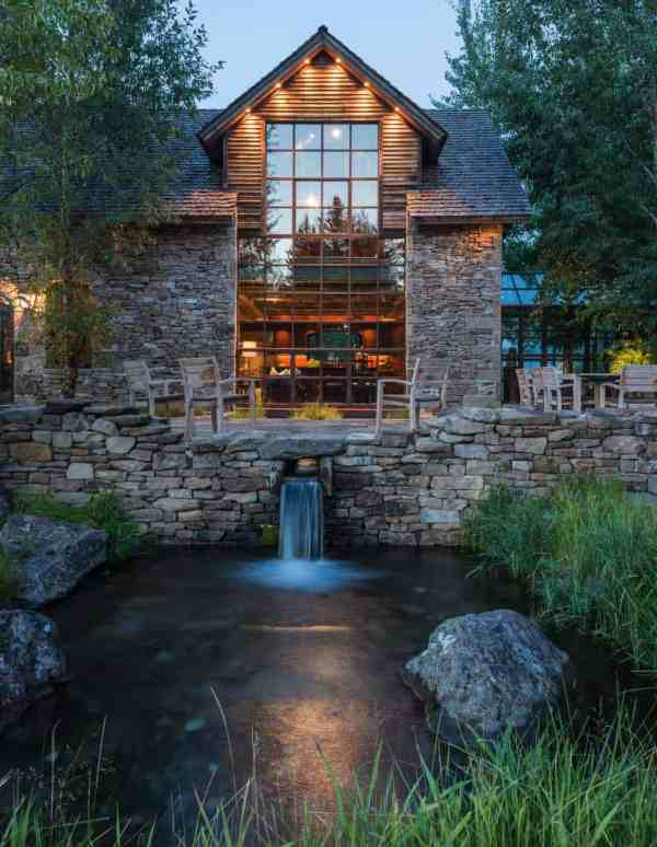 rustic stone and timber dwelling