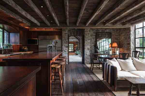 Rustic Stone And Timber Dwelling Overlooking Grand Tetons