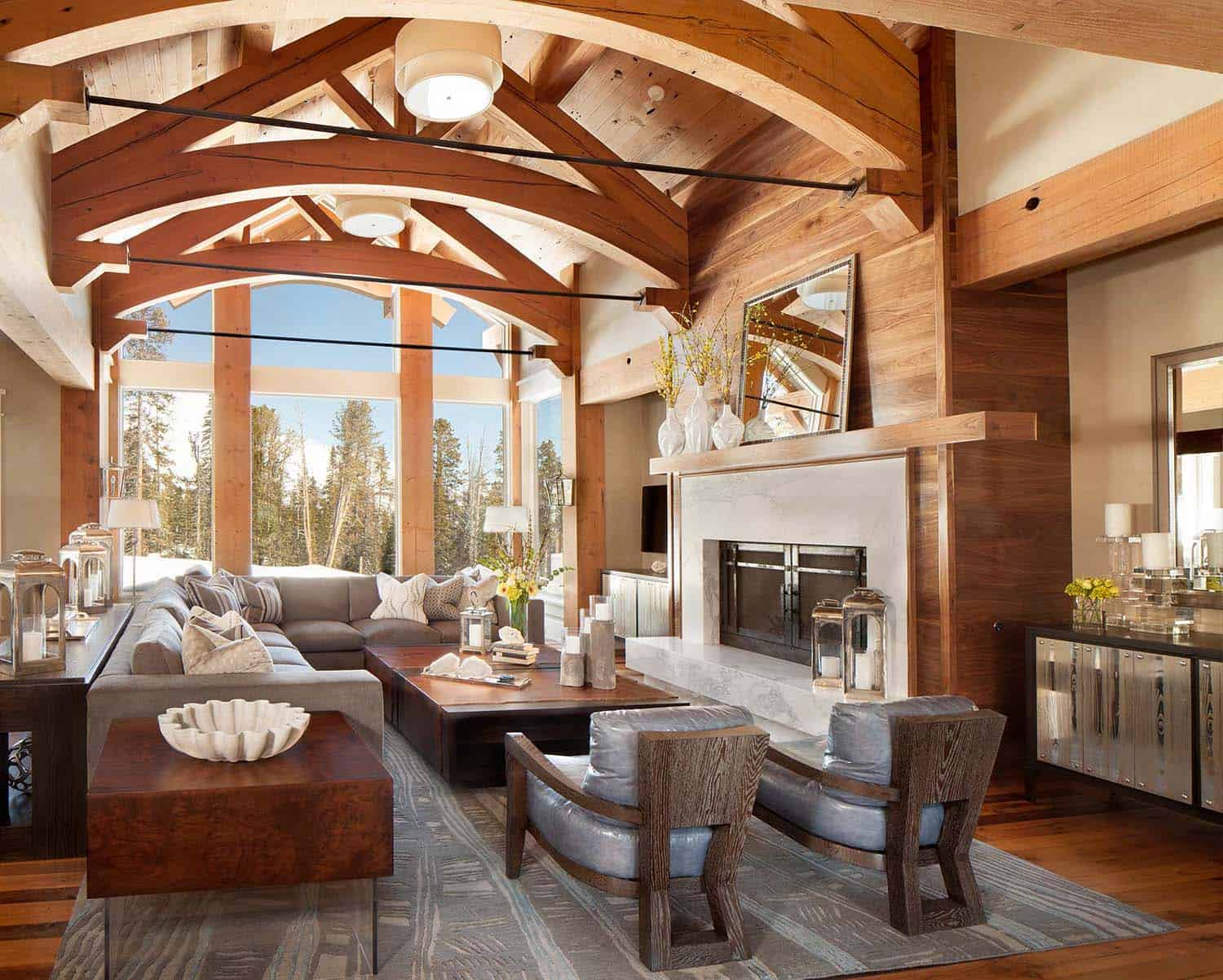 Fabulous Mountain House With Modern Touches In Big Sky
