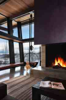 Majestic Mountain Home Of Stone And Glass Dominates