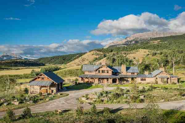 rustic-modern mountain ranch nestled