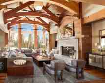 Mountain Retreat In Big Sky Country Showcases Bright Bold