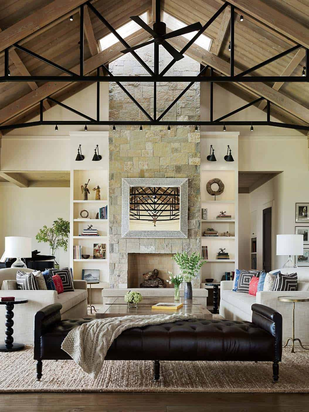 wine country living room wallpaper for feature wall a chic residence boasts amazing entertaining spaces above reclaimed oak dining table was custom designed this space built on casters the extends out an extra foot to accommodate up 24 dinner