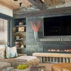 Chair Lift Design Black Upholstered Modern-rustic Mountain Home With Spectacular Views In Big Sky Country