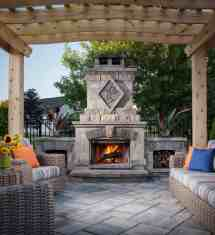 Irresistible Outdoor Fireplace Ideas Leave