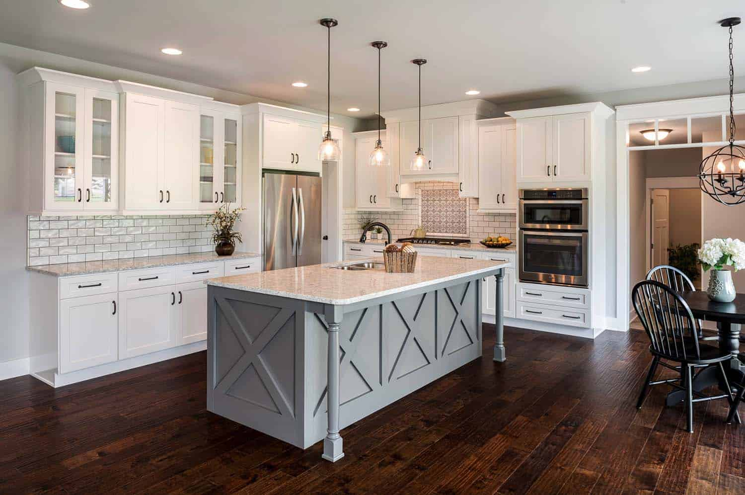 farmhouse kitchen cabinets ceiling fan 35 43 amazingly creative and stylish ideas