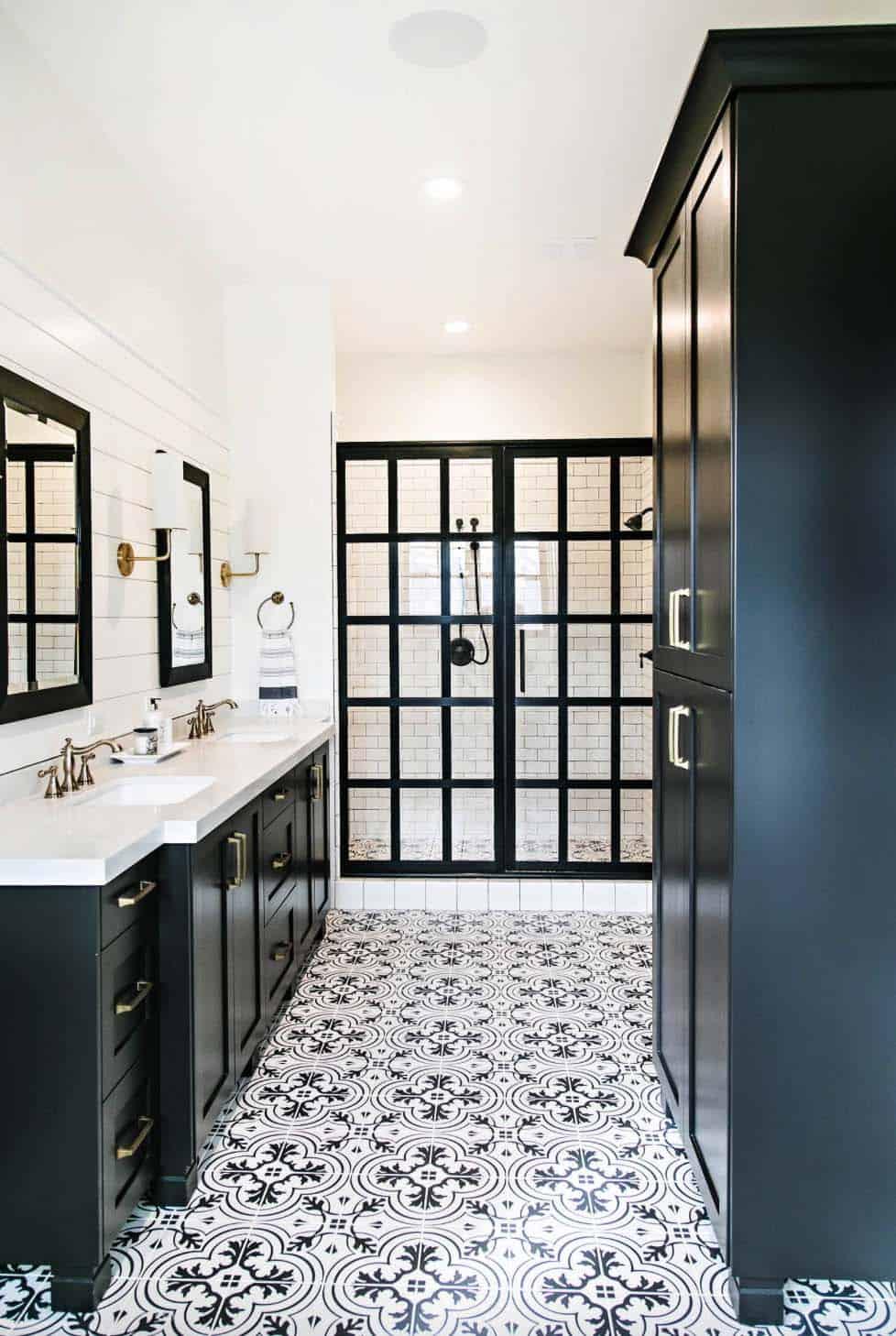 stylish black and white bathroom ideas