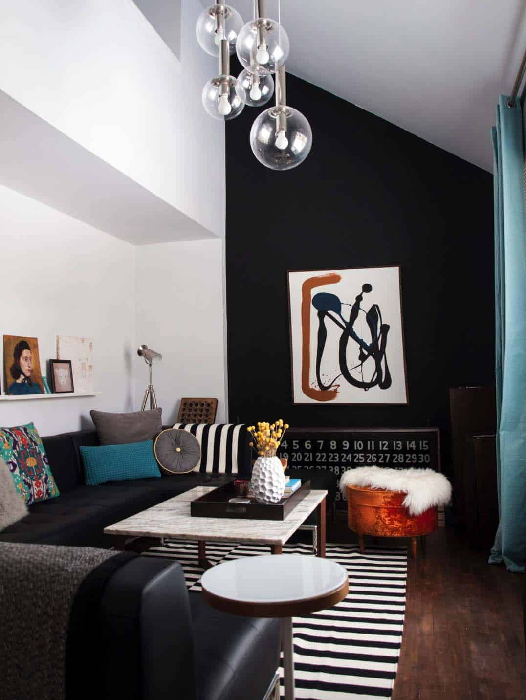 wall pictures living room interior design decorating ideas for small rooms 28 gorgeous with black walls that create cozy drama contemporary