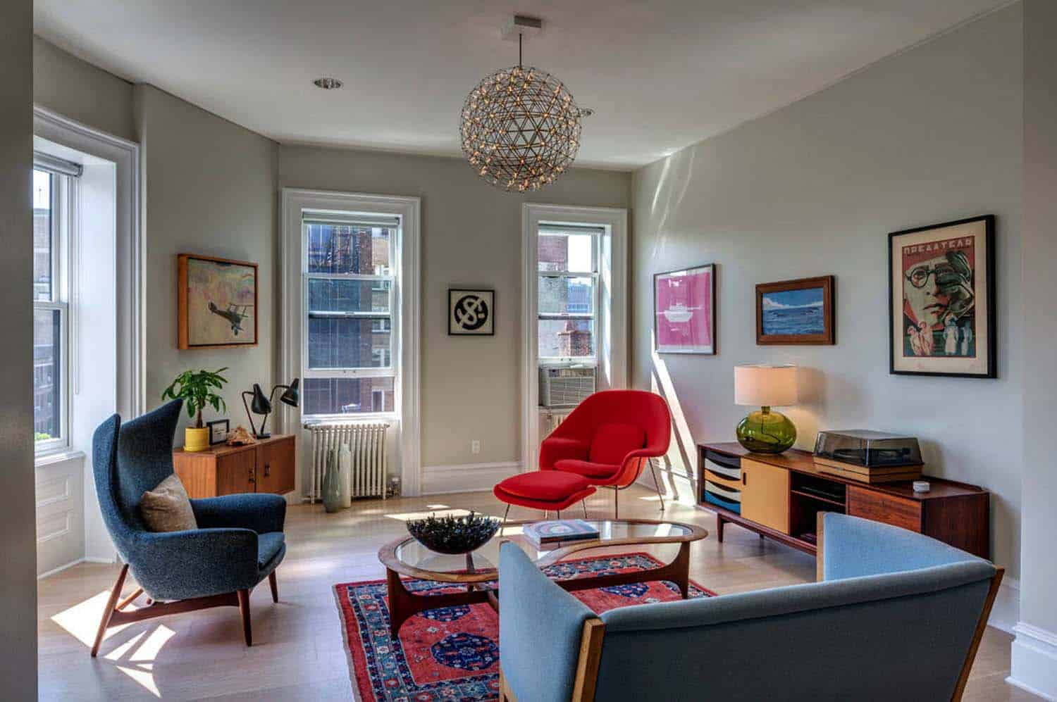 mid century modern living room ceiling fan in picture 38 absolutely gorgeous ideas the stand out piece of furniture this is newark fiber glass lounge arm chair red aeon illuminating space
