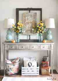23 Amazing Ways To Style Your Console Table With Fall Decor