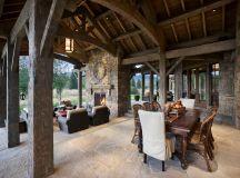 Idyllic rustic mountain retreat showcases views of the ...