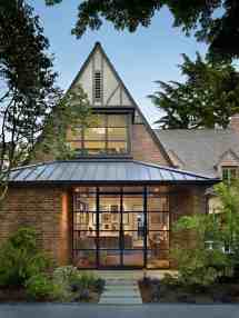 Tudor Home Features Stunning Modern Twist Lake Washington