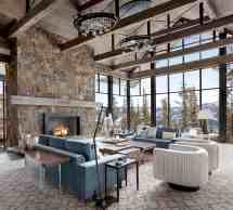 Modern Ski Home In Montana Boasts Views Of Snow-capped