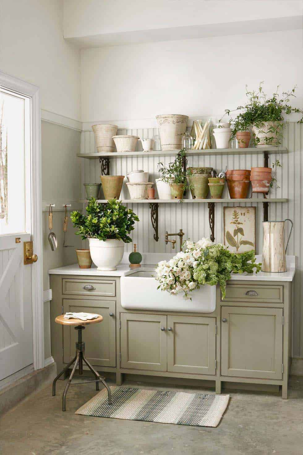 30 Brilliant And Inspiring Storage Ideas For Your Potting
