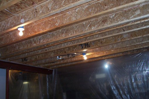 How to Paint a Basement Ceiling with Exposed Joists for an Industrial Look  One Project Closer