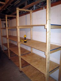 How to Build Inexpensive Basement Storage Shelves - One ...