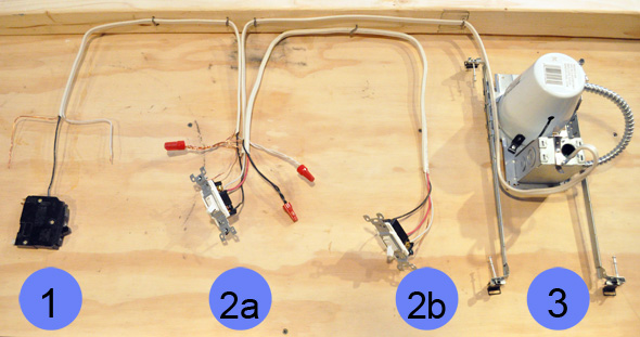 Light Circuit With A Single Pole Switch To Use Two 3way Switches