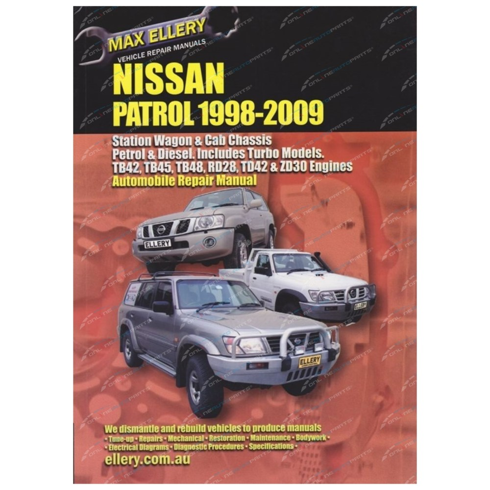 medium resolution of workshop repair manual nissan patrol 98 09 gu y61 book petrol diesel inc turbo