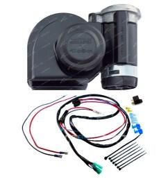 stebel nautilus black car air horn kit 12 volt 139db incl plug n horn relay wiring kit plug n play stebel nautilus air electric car [ 1600 x 1600 Pixel ]