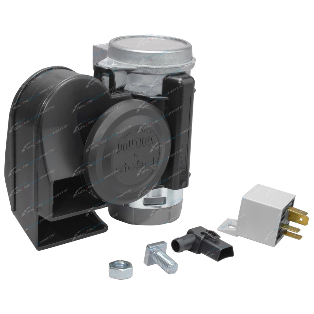 medium resolution of 24 volt stebel nautilus compact truck car air horn 139db loud black bus electric click to enlarge