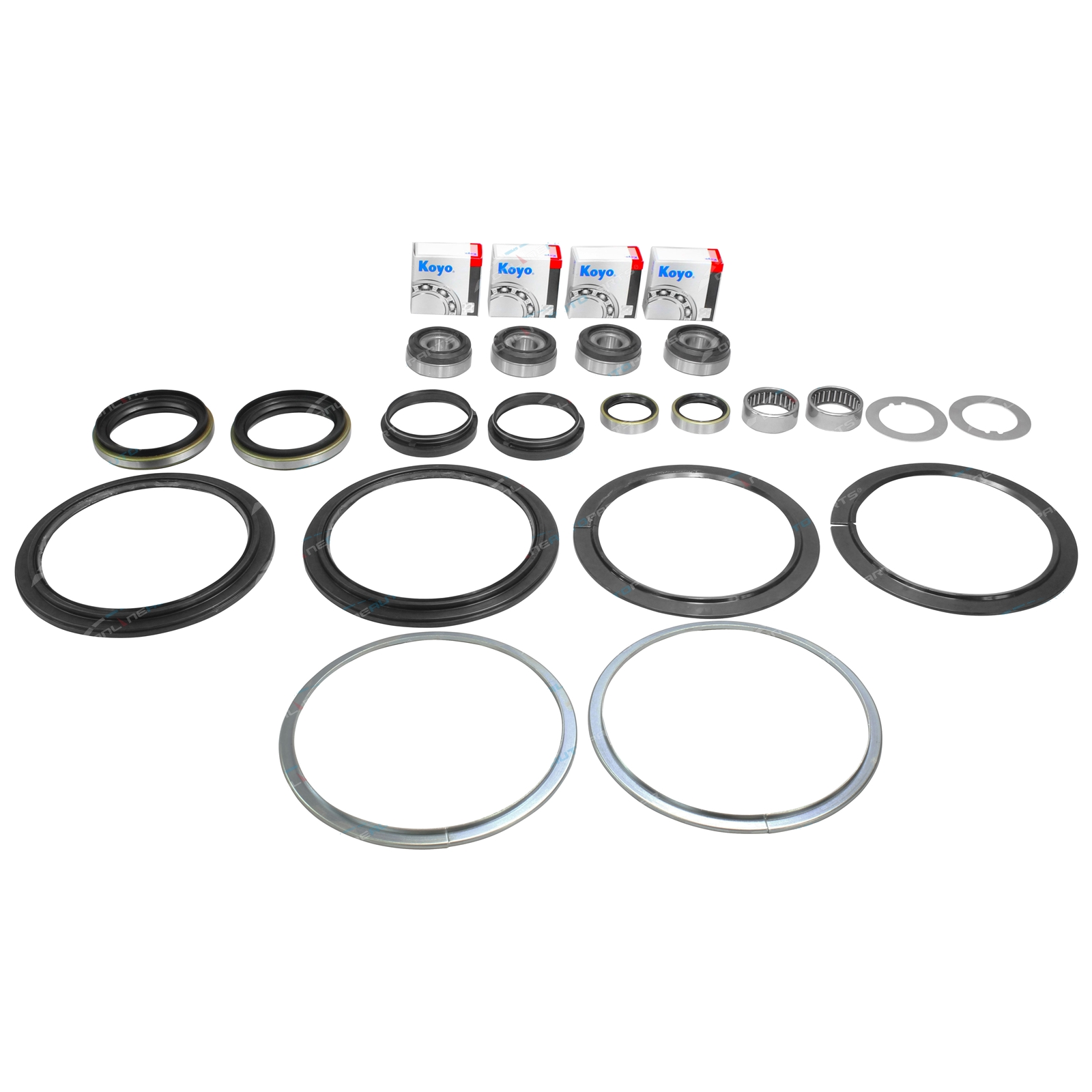 Swivel Hub King Pin Bearing Steering Knuckle Seal Repair