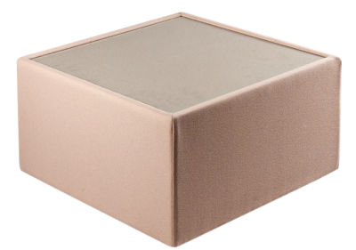 roxy square upholstered glass coffee table