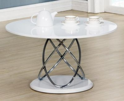 helixa white high gloss coffee table