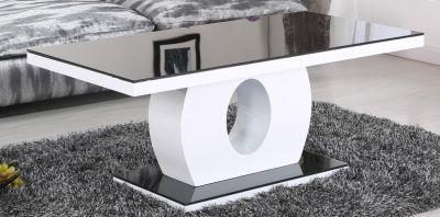 koval designer black glass coffee table
