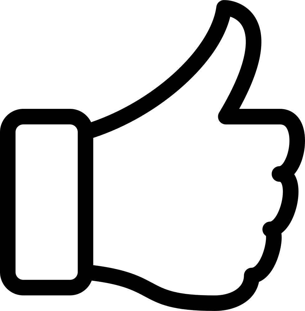 Thumbs Up Svg Png Icon Free Download 357007