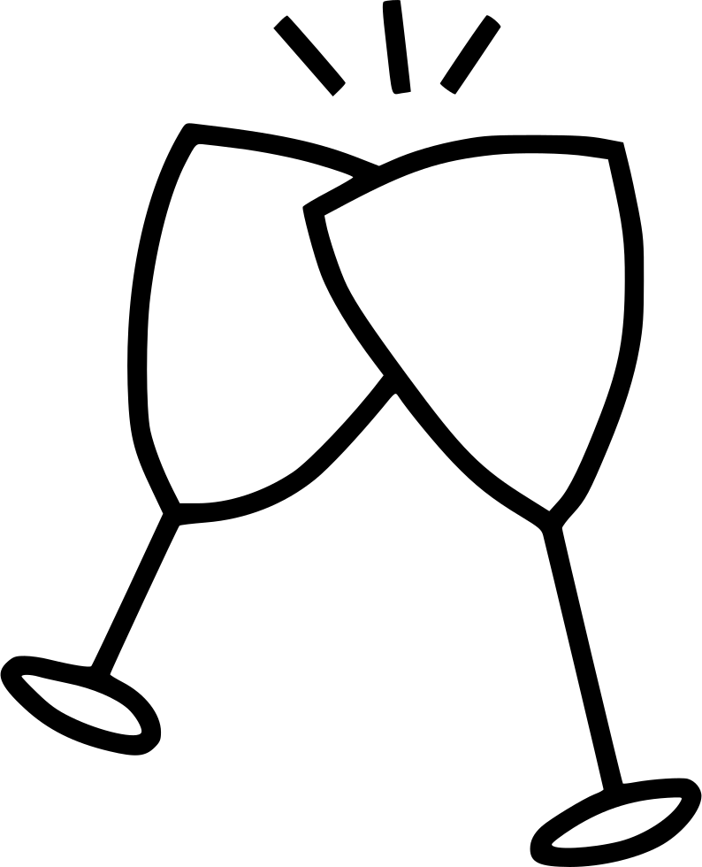 Champagne Glasses Svg