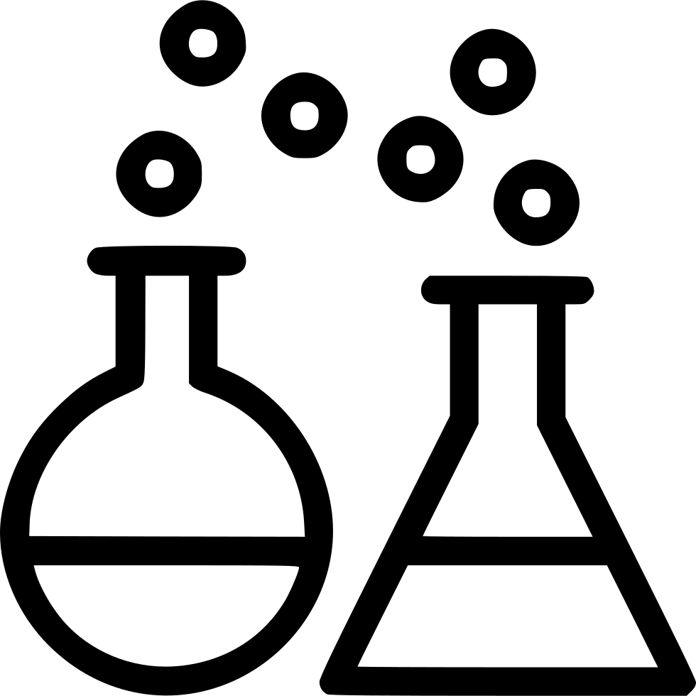 Chemical Reaction Test Lab Conical Flask Beaker Svg Png