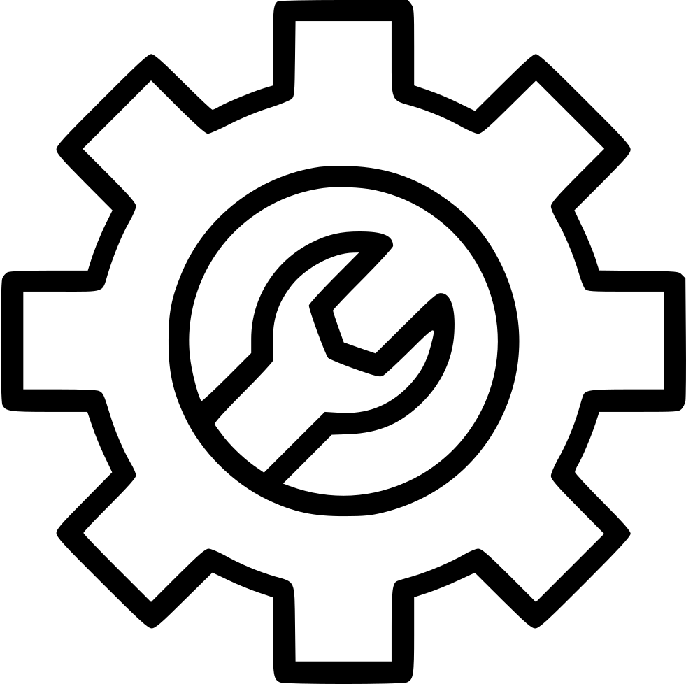 Gear Setting Configuration Service Manage Wrench Tools Svg