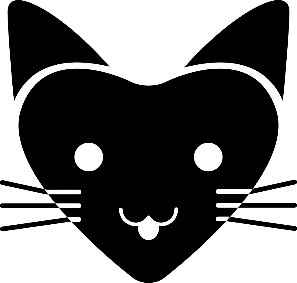 Download Love Cat With Heart Shaped Face Svg Png Icon Free Download ...