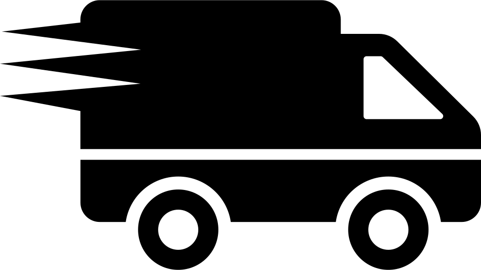 Logistics Delivery Truck In Movement Svg Png Icon Free