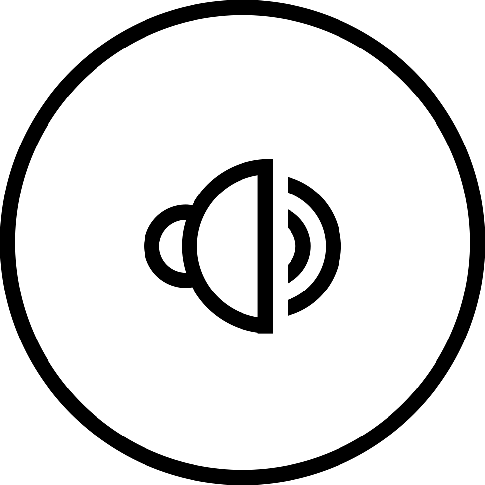 Speaker Outline Symbol In Circular Button Svg Png Icon