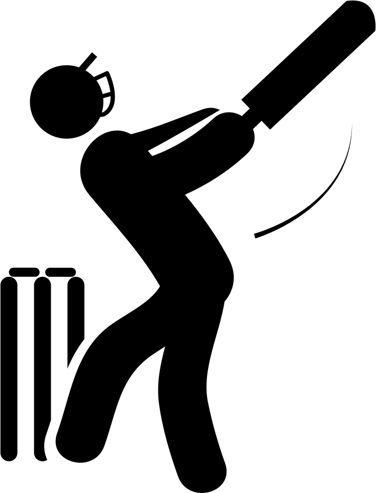 Cricket Bat Png . Cricket Player With Bat Svg Png Icon Free Download (#21613
