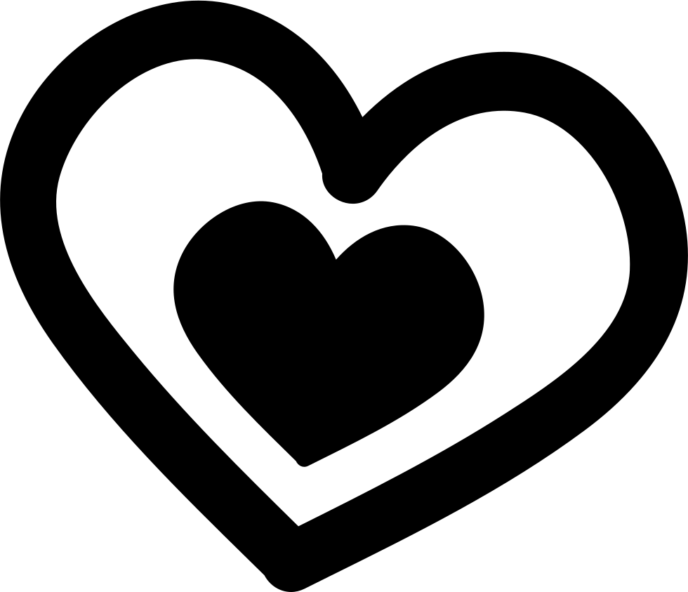 Download Love Hand Drawn Couple Of Hearts Svg Png Icon Free ...