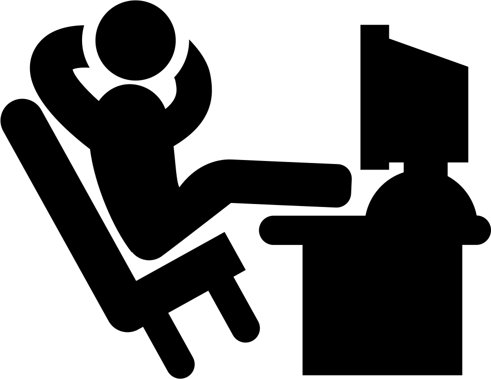 Comfortable Office Worker With His Legs Lying On The Desk Svg Png Icon Free Download 37453