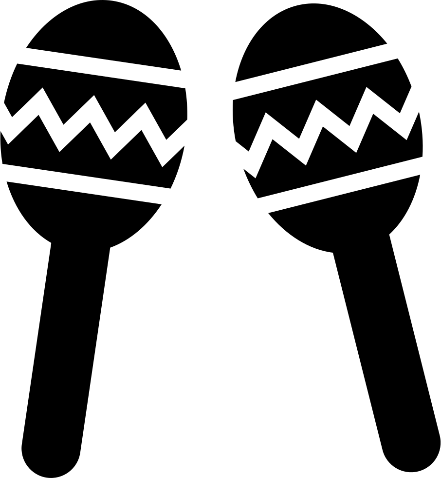 Maracas Couple Of Musical Instrument Of Mexico Svg Png