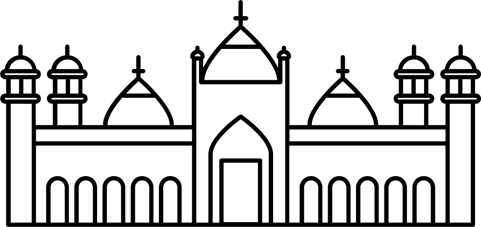 Badshahi Mosque Svg Png Icon Free Download (#42464