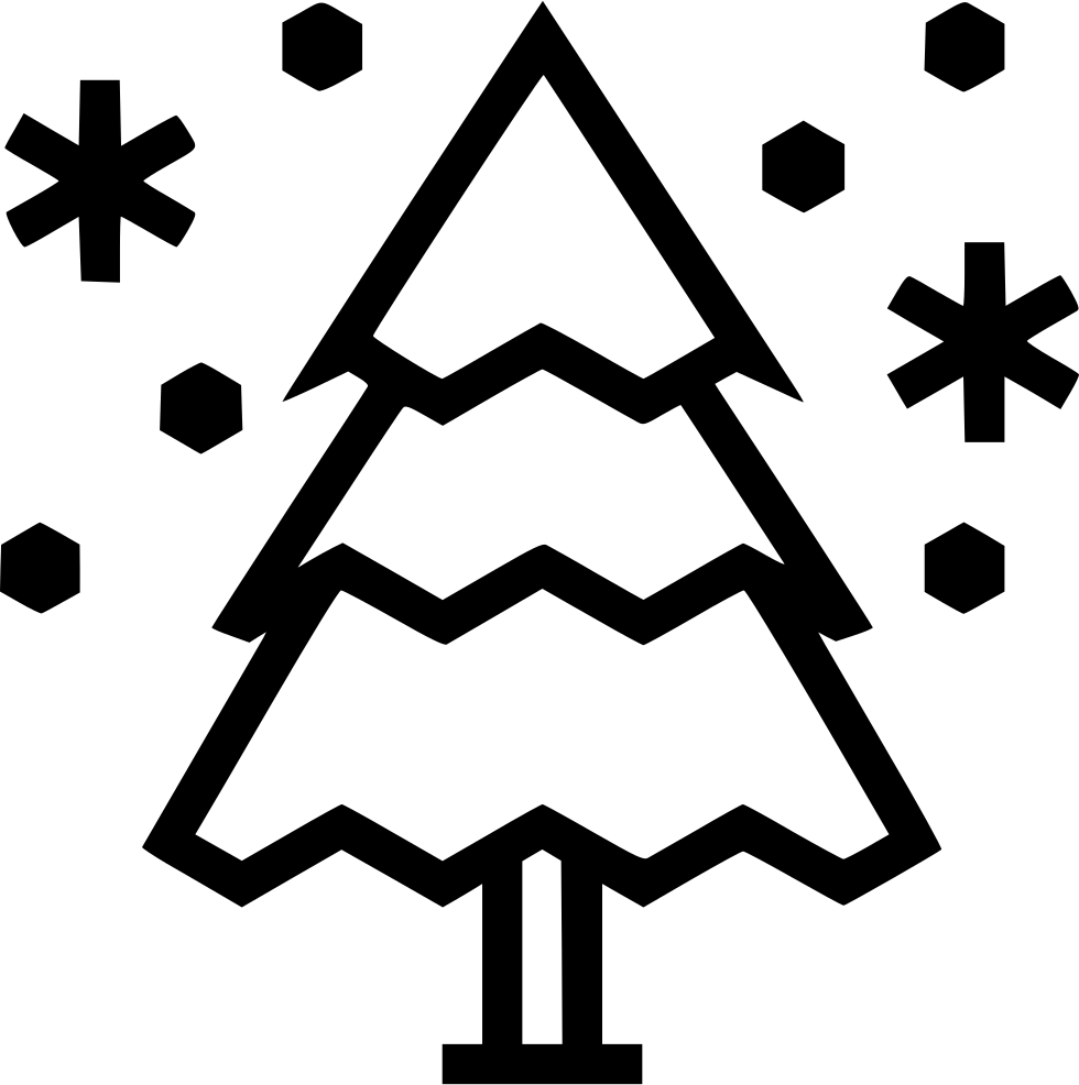Winter Snowing Tree Snowflake Svg Png Icon Free Download
